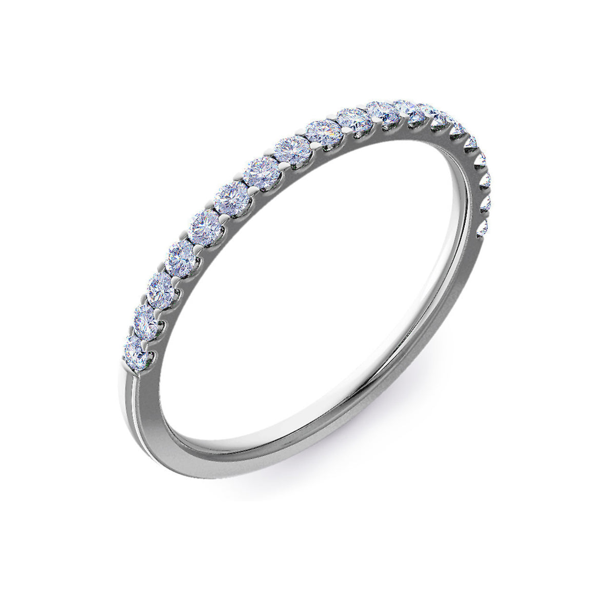 Micro Claw Set 1.5mm Half Eternity Ring