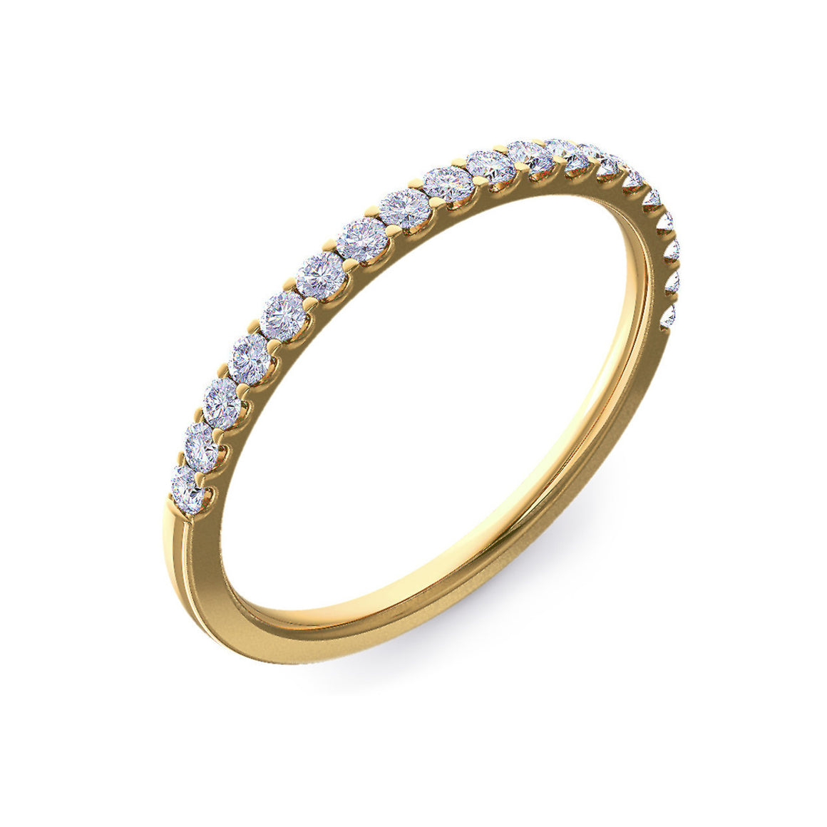 Micro Claw Set 1.5mm Gold Half Eternity Ring