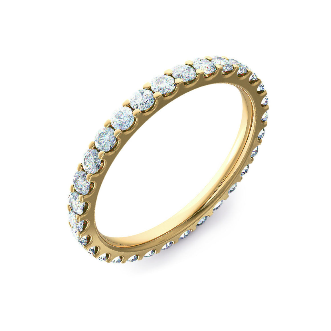 Micro Claw Set 2mm Gold Full Eternity Ring
