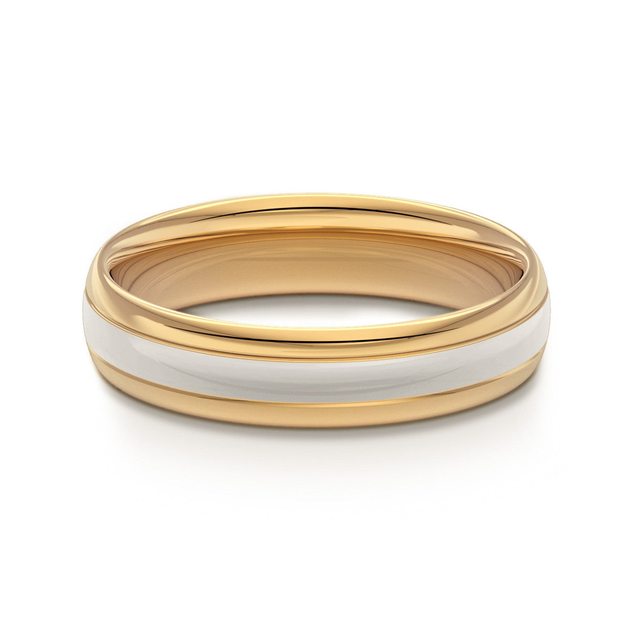 Two Tone Gold Classic Court Wedding Ring Engagement Rings Co Uk
