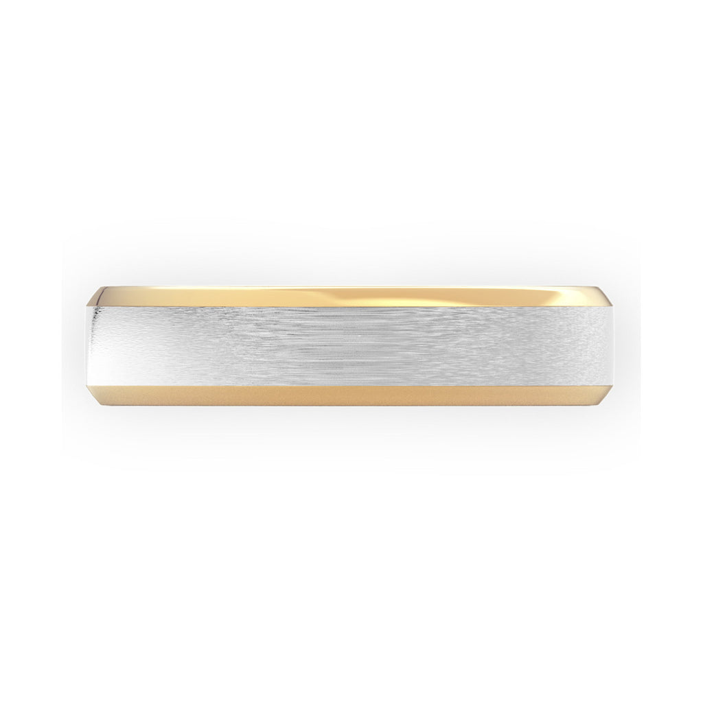 Two Tone Bevelled Edge & Brushed Gold Flat Court