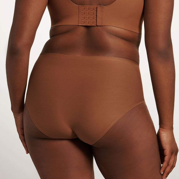All Color: Clay | dark nude tone seamless bikini brief underwear