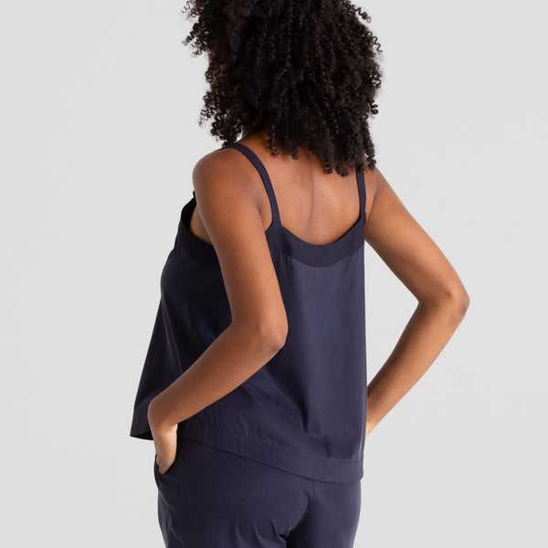 All Color: Midnight | navy blue pajama spaghetti strap cami shirt top