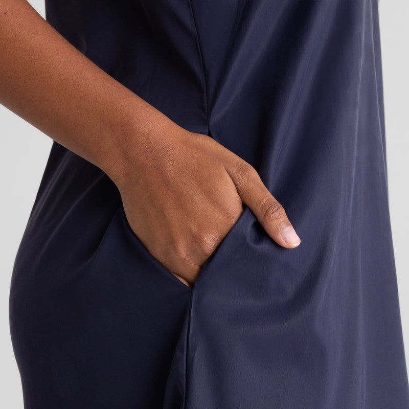 All Color: Midnight | navy blue pajama dress slip