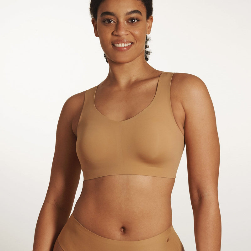 All Color: Mica | brown tan nude seamless wireless bra