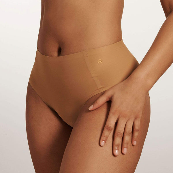 All Color: Mica | medium nude tone seamless bikini brief underwear