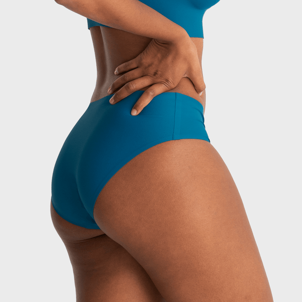 All Color: Lagoon | blue teal seamless hipster underwear