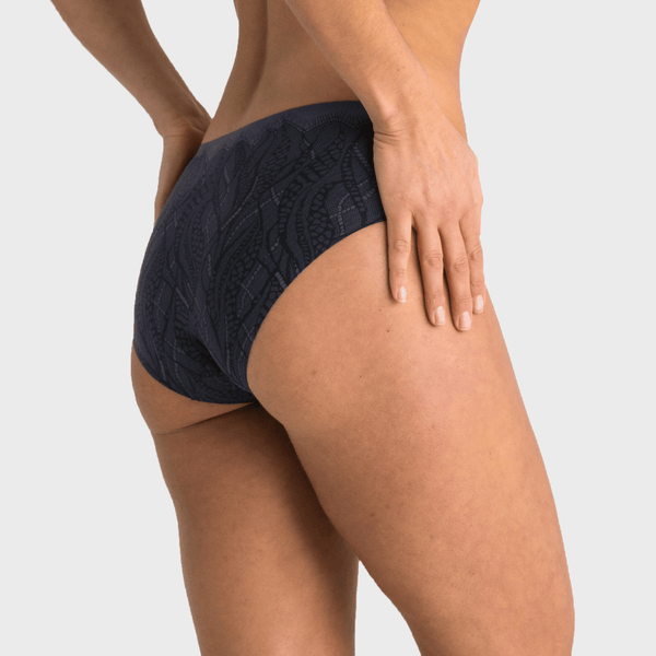 All Color: Midnight Lace | navy blue lace hipster underwear