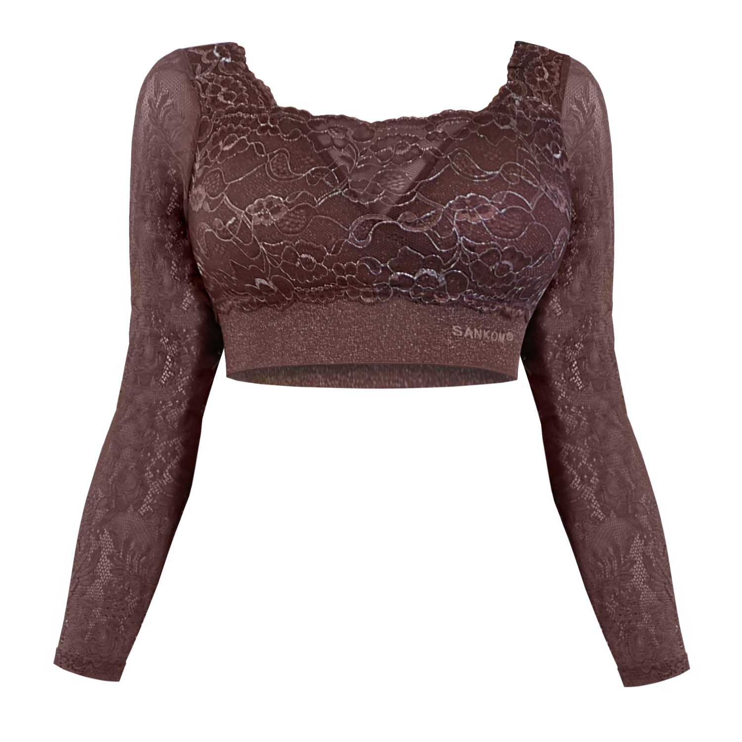 Classic with Lace and Sleeves  | Taupe Color