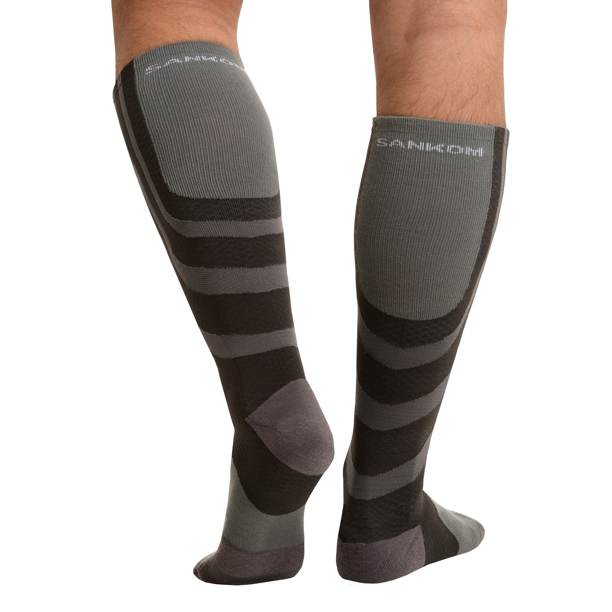 Men Socks |  Grey & White