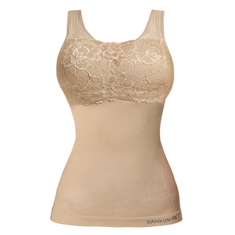 Classic with Bra Incorporated with Lace | Peach