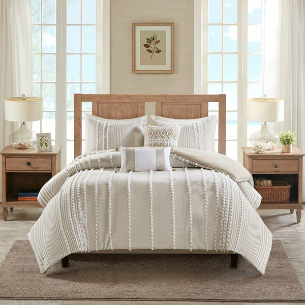 Anslee 3 Piece Cotton Yarn Dyed Comforter Set - Chapin Furniture