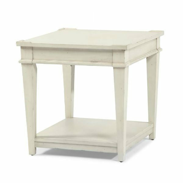 Trisha Yearwood Home Azalea End Table- Off White