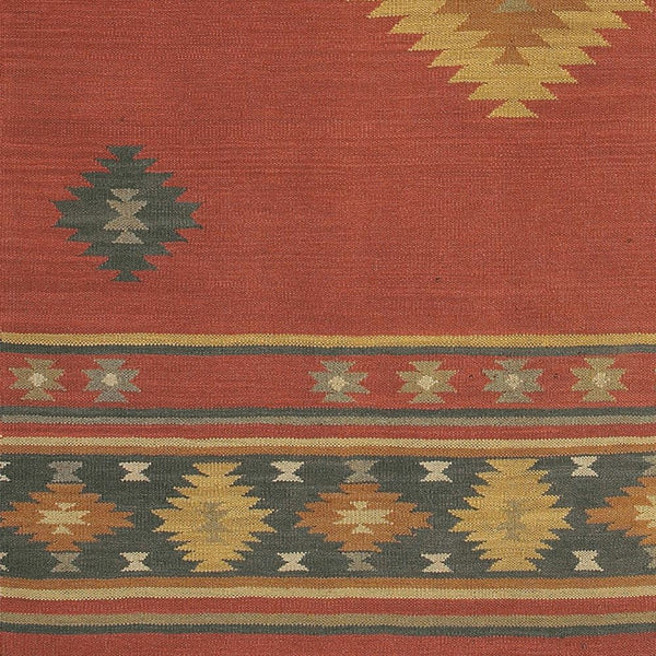 Jewel Tone Dark Red Rug