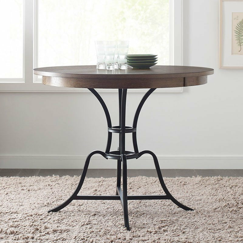 Nook Round Counter Height Dining Table With Metal Base- Multiple Finishes, Multiple Sizes - Chapin Furniture