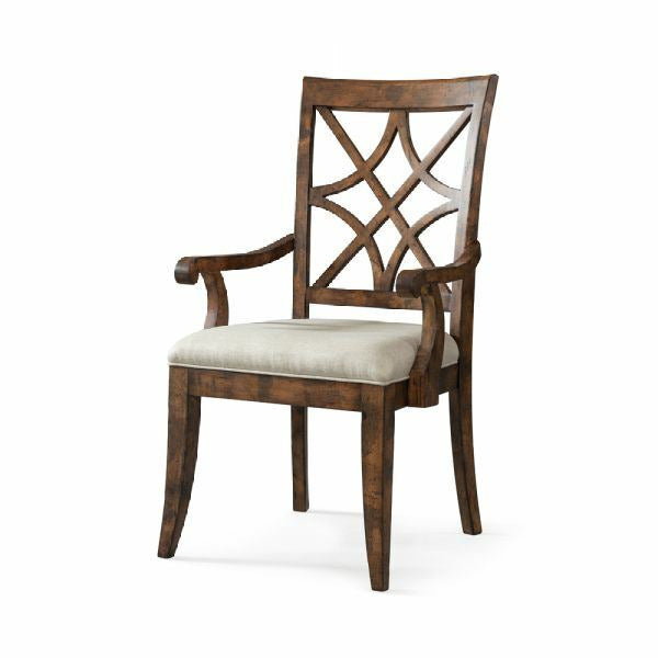 Trisha Yearwood Home Nashville Arm Chair- Coffee - Chapin Furniture