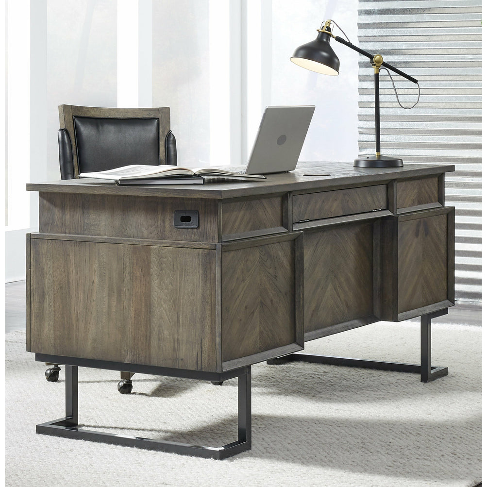 "Harper Point Fossil 66"" Executive Desk - Chapin Furniture"