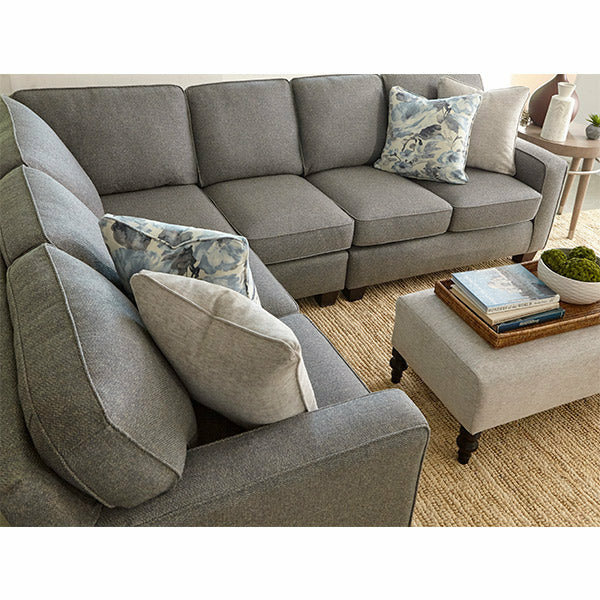 Annabel Track Arm Sectional- Customizable - Chapin Furniture