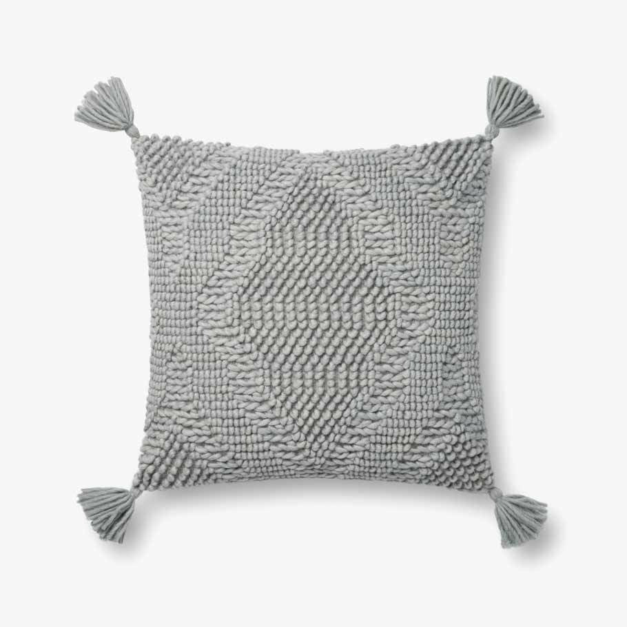 Magnolia Home Texture Tassle Pillow- 3 Color Options - Chapin Furniture