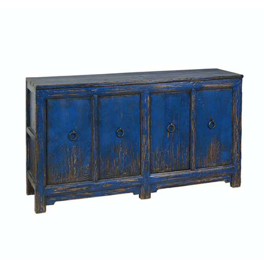 Amherst 4 Door Buffet Antique Blue - Chapin Furniture