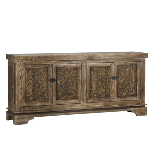 Amita 4 Door Sideboard Brown Stone - Chapin Furniture