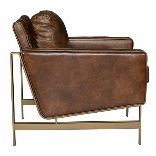 Chazzie Club Chair- Brown or Blue - Chapin Furniture