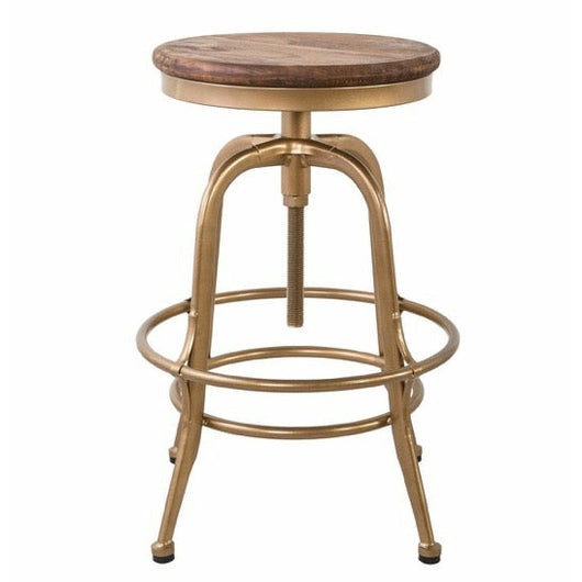 Peralta Counter Stool Brass - Chapin Furniture