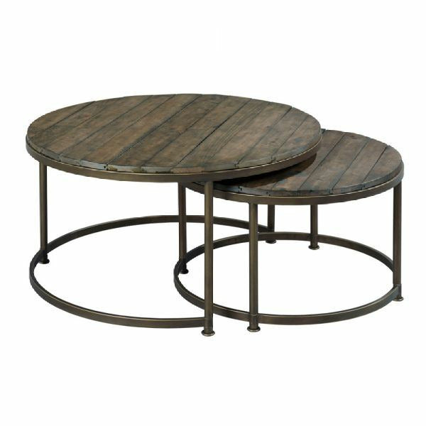 Leone Round Nesting Cocktail Table
