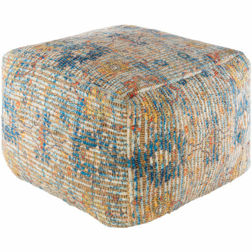 Coventry Pouf-Blue - Chapin Furniture