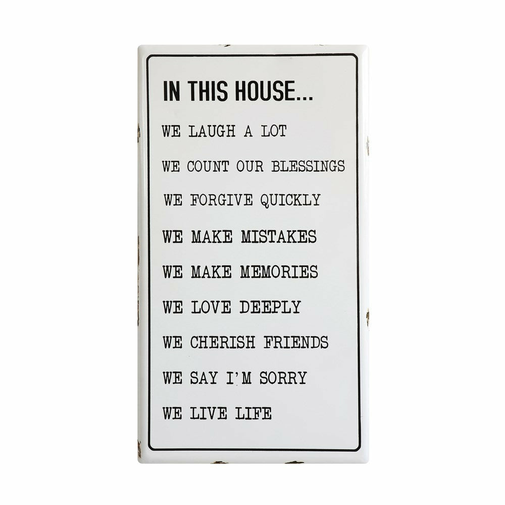 "Enameled Wall Decor ""In This House"" - Chapin Furniture"