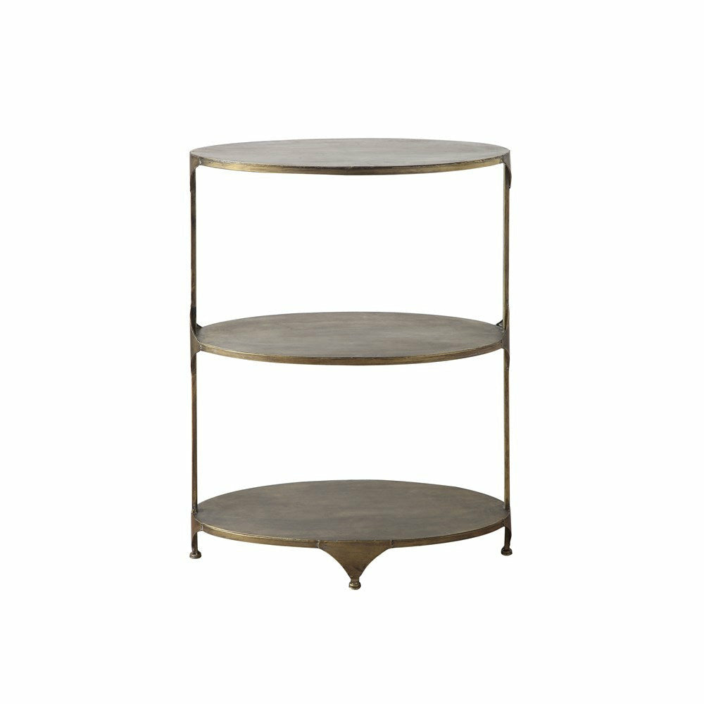 Oval Metal 3-Tier Shelf - Chapin Furniture