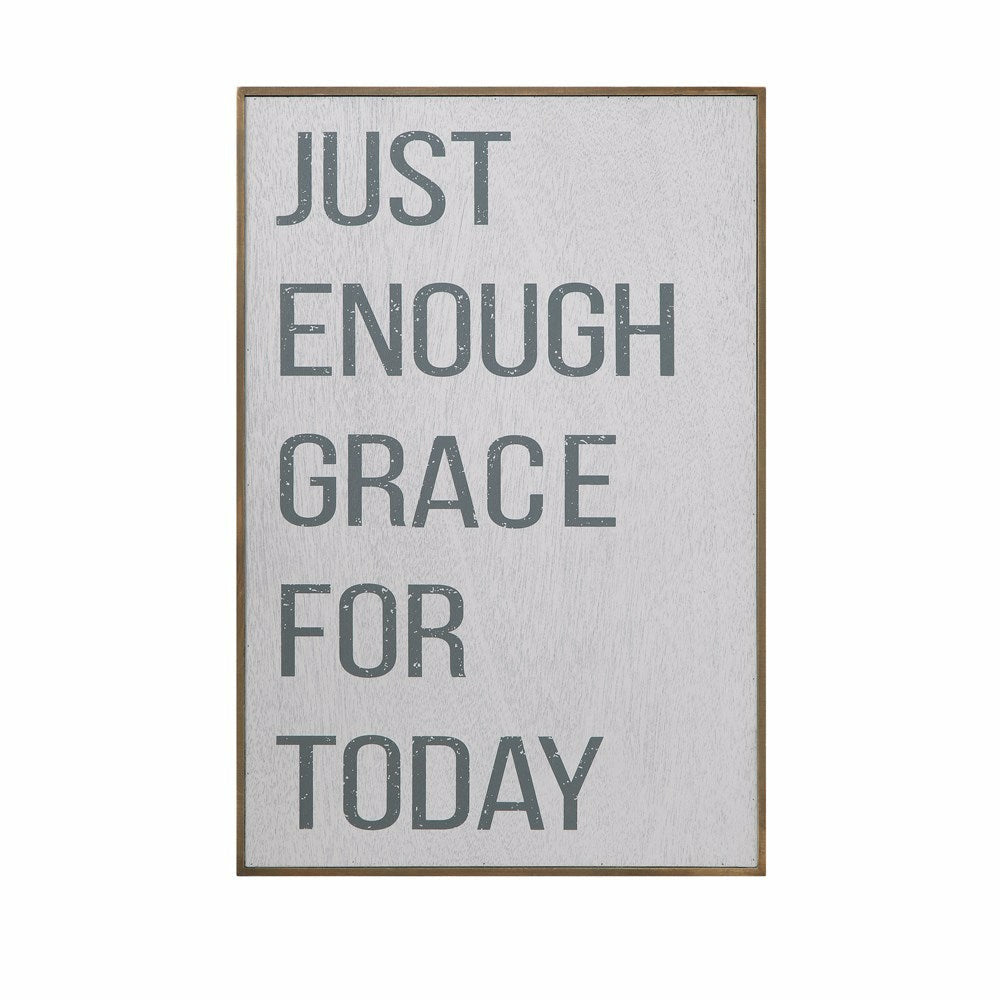 """Just Enough Grace"" Sign - Chapin Furniture"