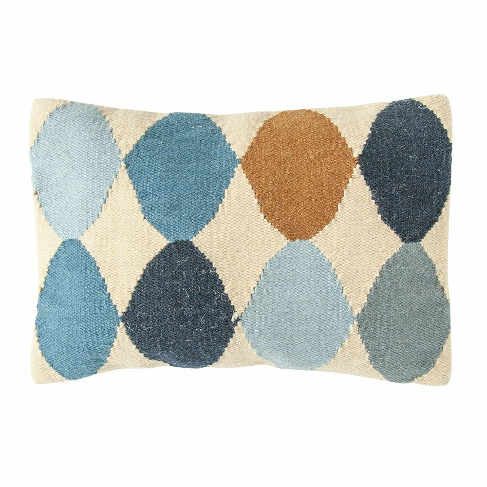 Woven Wool Blend Pattern Lumbar Pillow, Multi Color - Chapin Furniture