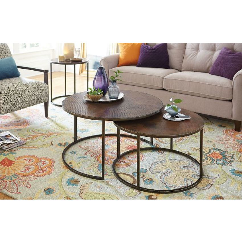Sanford Round Nesting Cocktail Table