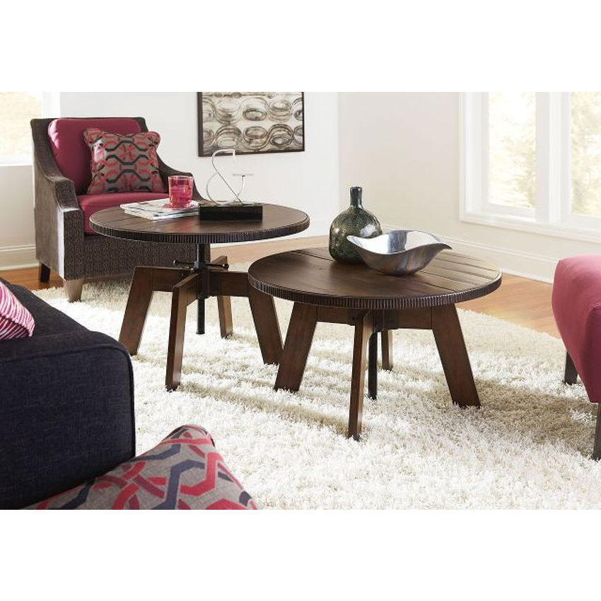Hidden Treasures High-Low End Table