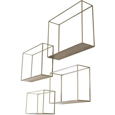 Set of 4 Metal Shelves - Chapin Furniture
