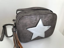 Metallic Grey Star handbag