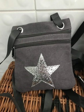 Small Star Handbag  -  Grey