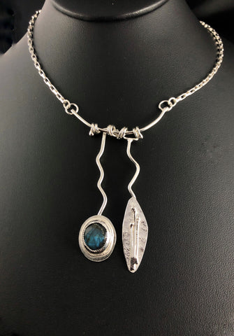 RESERVED FOR WENDY Labradorite and Sterling Necklace