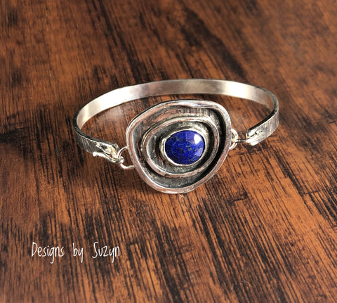 Tension Cuff Lapis Bracelet