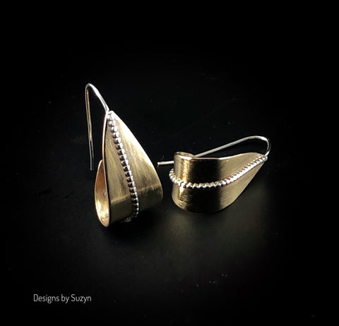 Demi Hoops, Nu-Gold and Argentium Silver