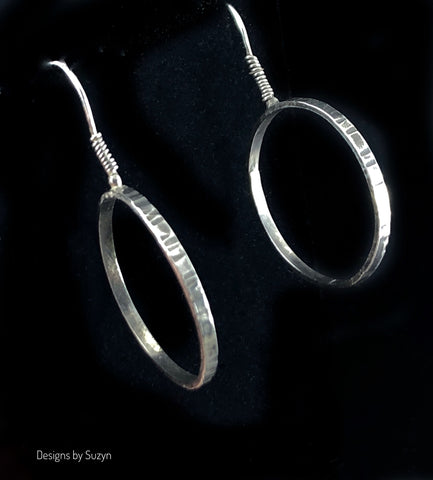 "RESERVED DO NOT BUY. Oxidized Sterling Silver hoop earrings 1"" diameter"