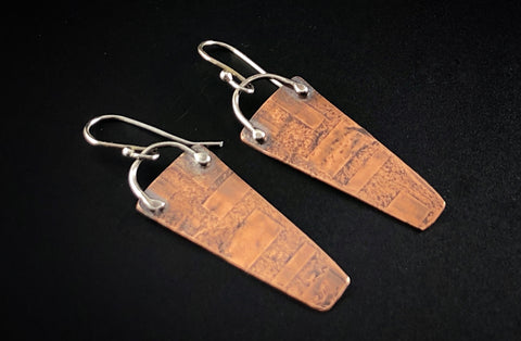 Silver and copper earrings #5