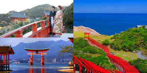 Japan the land of ocean view Shrines