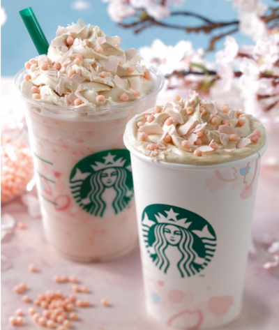 Starbucks Sakura drink