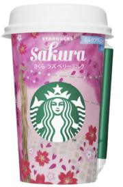 Starbucks Sakura Raspberry Milk