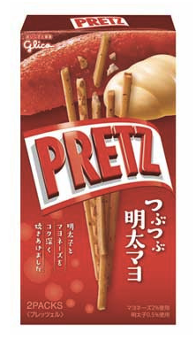 "PRETZ New ""Seasoned cod roe & Mayonnaise"" flavor"