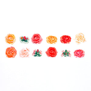 Bande Masking Roll Sticker Classic Rose for Scrapbooking DIY
