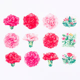 Bande Masking Roll Sticker Masking Tape Carnation for Scrapbooking DIY (BDA228)