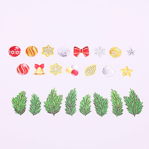 Bande Tape Set of 2 Masking Roll Stickers, Christmas Set, for Scrapbooking DIY (BDA258)